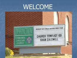 Church Conflict 101