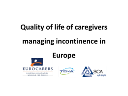 Quality of life of caregivers managing incontinence in