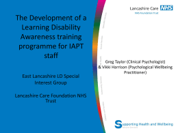 The Development of a Learning Disability Awareness