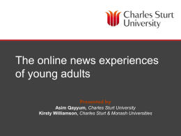 The online news experiences of young adults