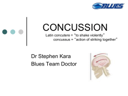 CONCUSSION - Auckland Rugby Referees Association
