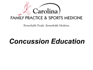 Education - Carolina Sports Concussion Clinic