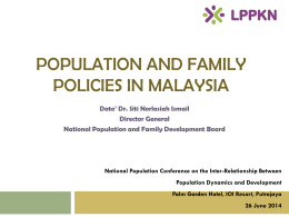 Population and Family Policies in Malaysia