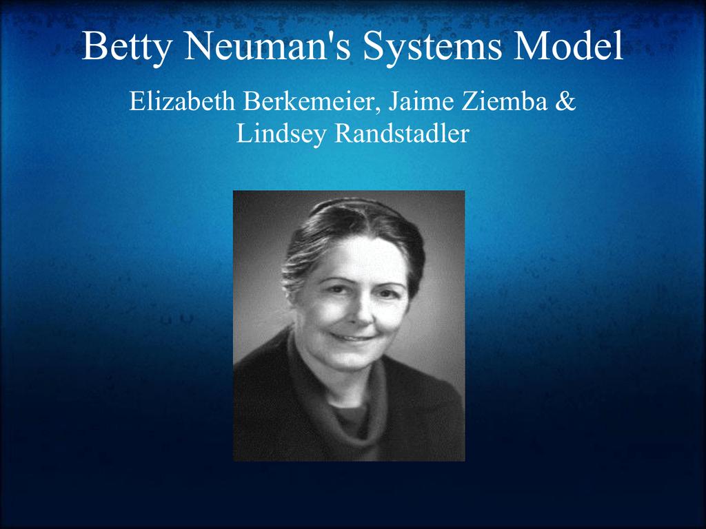 betty neumann systemmodell