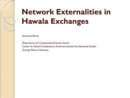 Network Externalities in Hawala Exchanges