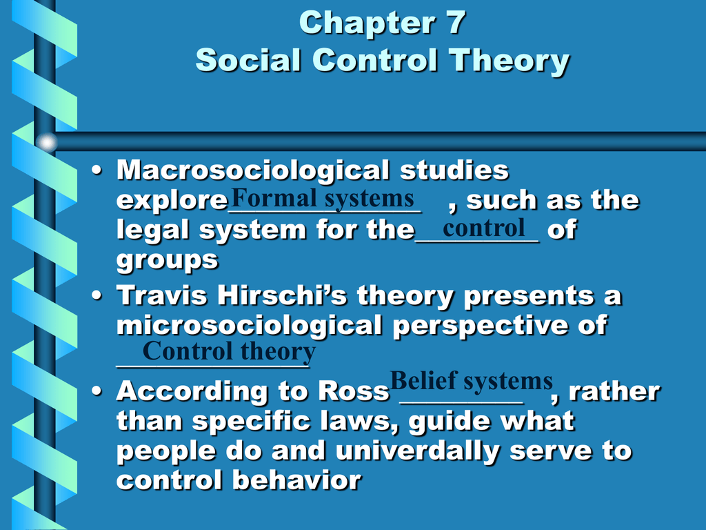 what is social control theory