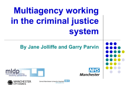 Multiagency working in the criminal justice system