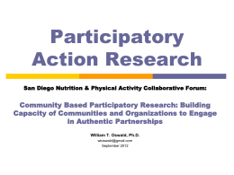 Participatory Action Reasearch