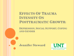 Effects of Trauma Intensity on PTG: Depression, Social Support