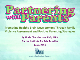 Partnering with Parents (PwP)