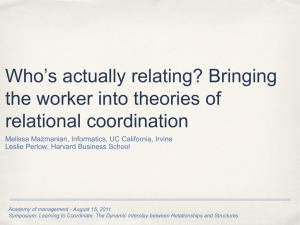 Who`s actually relating? - Relational Coordination Research