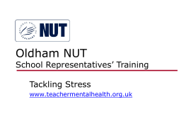 Oldham NUT School Representatives Training