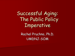 Successful Aging - Richard Stockton College of New Jersey