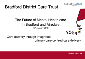 Bradford District Care Trust - Building Health Partnerships