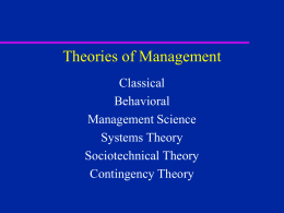 Chapter 2: Foundations of Management Understanding
