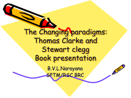 The Changing paradigms: Thomas Clarke and Stewart clegg Book