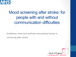 Screening tools for depression after stroke