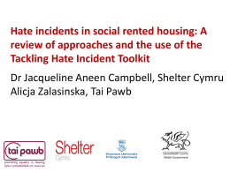 Dr Jacqueline Campbell from Shelter Cymru on the