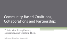 Collaborating to improve community health