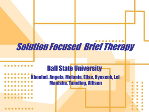 Solution Focused Therapy - Lei Lei