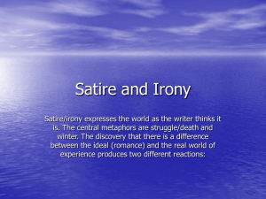 Satire and Irony Powerpoint