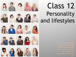 CA2018 C12 The personailty and lifestyles