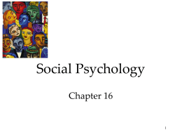 Unit 14 Social psychology