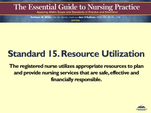 Standard 15 Resource Utilization