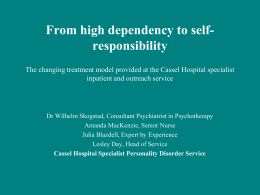 From high dependency to self-responsibility - BIGSPD