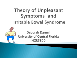 Presentations – Theory of Unpleasant Symptoms
