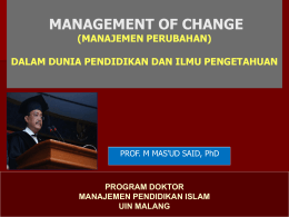 File - Prof. Said M. Mas`ud, Ph.D., Professor of