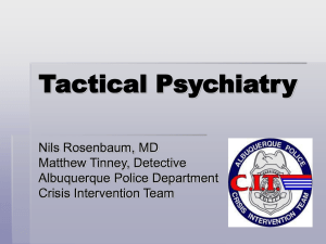 Tactical Psychiatry - CIT International Conference
