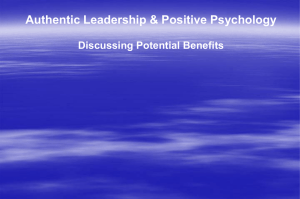 Authentic Leadership & Positive Psychology
