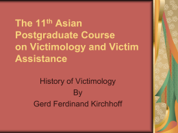 Principles in Victimology