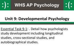 Developmental Psychology Research Methods