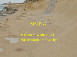 MMPI-2 General - Francis Marion University