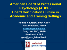 abpp educationtraining  - American Board of Professional