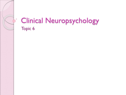 definition of a clinical neuropsychologist