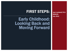 Dr. Joan Lombardi`s Early Childhood presentation