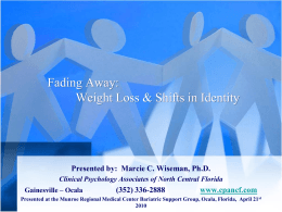 Fading Away: Weight Loss and Shifts in Identity