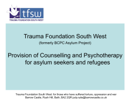 Judy Ryde - Trauma Foundation South West