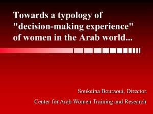 Women and Decision-Making