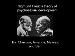 Sigmund Freud`s theory of psychosexual development