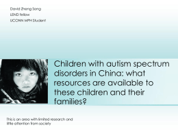 Children with autism spectrum disorders in China