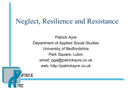 Neglect, resilience and resistance (Hampshire)