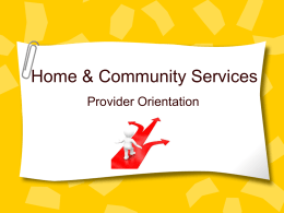 TSS Services - Home and Community Services