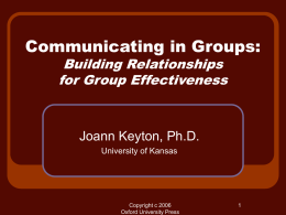 Chapter 1: Basics of Group Communication