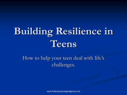 Building Resilience in Teens