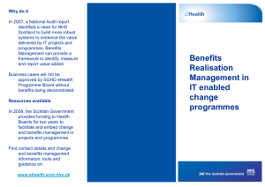 Benefits Realisation Management – Leaflet
