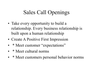 Sales Call Openings